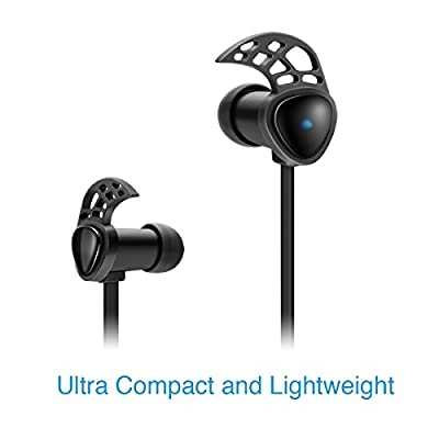 Bluetooth Headphones, 01 Audio Wireless Earbuds Earphones, Design for Sports-Made for Phones Like Samsung S6, iPhone 6 and More, Black