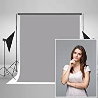 kate Photography Backdrop 5 x 7ft Photo Background Pure Grey Solid Color Collapsible Backdrop for Photographic Studio Props Backdrops