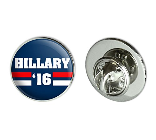 Hillary 2016 Hillary Clinton for President Round Metal Lapel Hat Pin Tie Tack Pinback