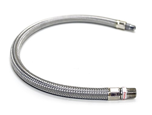 "VIAIR Viair 92804 18"" Stainless Steel Braided Leader Hose without Check Valve image"