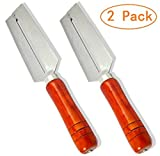 Aikoi Stainless Steel Blade Wooden Handle Chinese Kitchen Tool Multi Usage Fruit Peeler Sugarcane Skin Peeling Tool