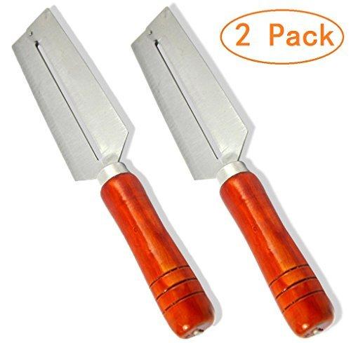 Aikoi Stainless Steel Blade Wooden Handle Chinese Kitchen Tool Multi Usage Fruit Peeler Sugarcane Skin Peeling Tool by Aikoi (Image #1)