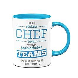 """Tasse """"Stolzer Chef eines fantastischen Teams"""""""