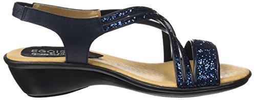 Plataforma Glitter para Sandalias Plana Egoisimo 3607324g Marino Mujer Azul con X8xvtq