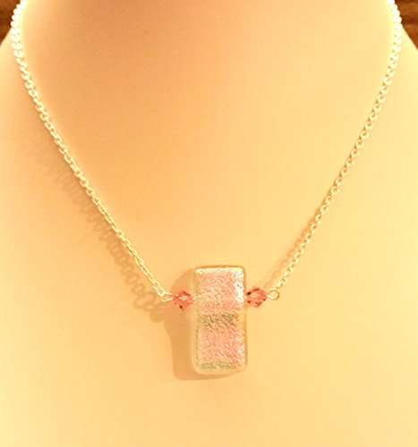 Children's Dichroic Glass and Swarovski Crystal Necklace (College Costumes Girls)