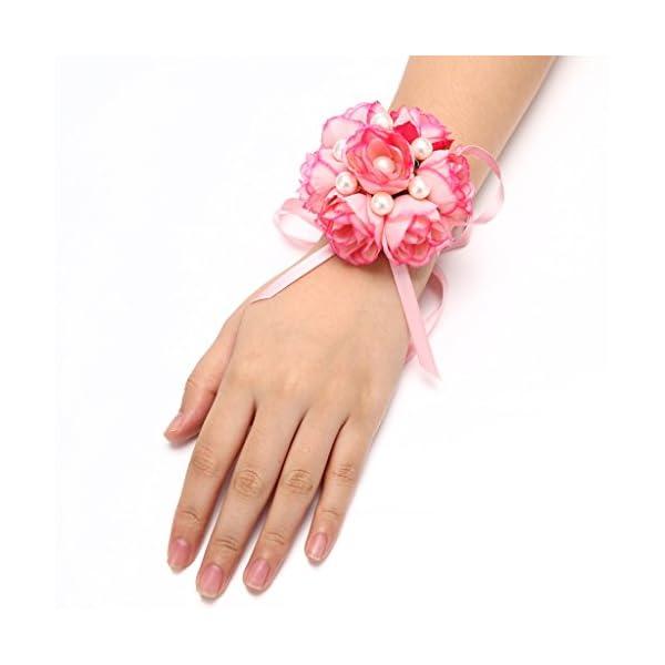 FAYBOX-Girl-Bridesmaid-Wedding-Wrist-Corsage-Party-Prom-Hand-Flower-Decor