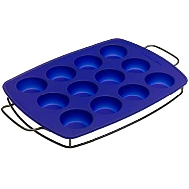 Kitchenaid Wire Sled With 12 Cup Muffin Pan, Silicone, Blue