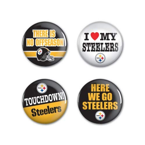 - WinCraft NFL Pittsburgh Steelers Round Button (4 Pack), 1 1/4