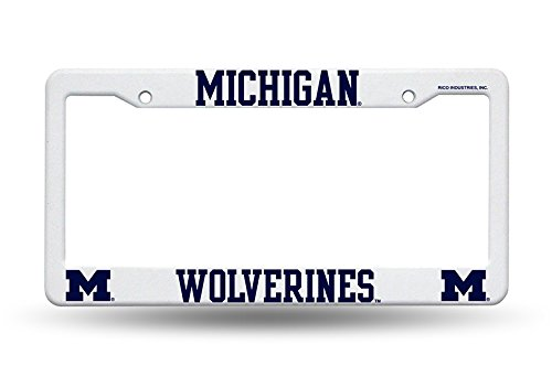 Frame Plate License University (Rico Industries NCAA Michigan University/Plastic Frame Sports Fan Automotive Accessories, Multicolor, One Size)