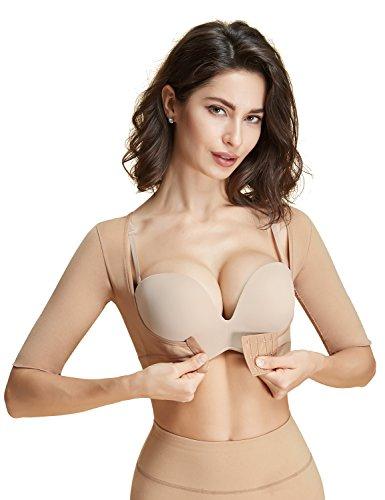 Lavenders Blue Arm Compression Shaper Sleeves Seamless Slimming Upper Vest Posture Corrector for Women