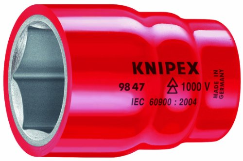 Knipex 98 47 27 1/2 27 Mm 1,000V Insulated Hex Socket