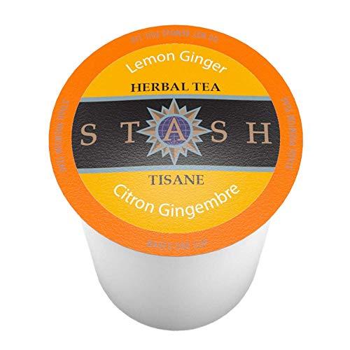 12 Count TWOFQ Stash Tea Lemon Ginger Pods for Keurig K-Cup Brewers