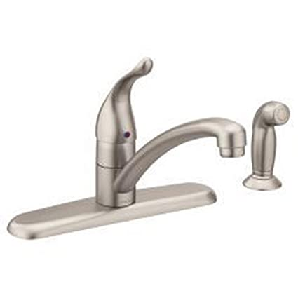 Moen Spot Resist Stainless one-Handle Kitchen Faucet ...