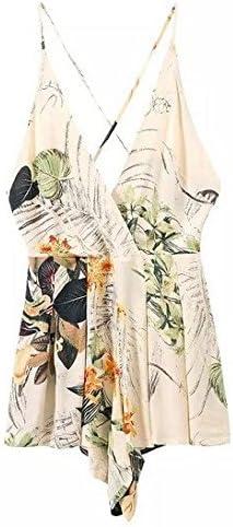 Ukiss Womens Chiffon Floral Printed Playsuit Short Romper Jumpsuit