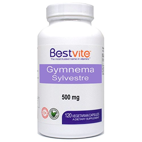 Gymnema Sylvestre 500mg (120 Vegetarian Capsules) – Standardized to 75% Gymnemic Acid – No Stearates – No Fillers – No Flow Agents