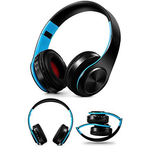 Kikole Headband Bluetooth Headphones Hi-Fi Stereo Wireless Headset Foldable Sport Earphones Microphone
