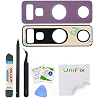 Unifix Purple Back Camera Glass Lens Cover Replacement [2...