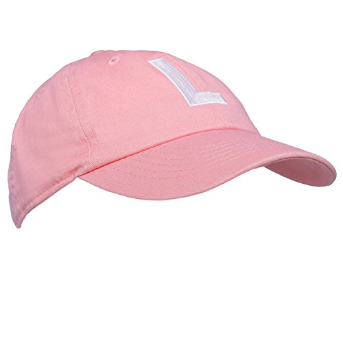 2420a7d2a2ba7 Tiny Expressions Toddler Girls  Pink Embroidered Initial Baseball Hat  Monogrammed Cap (L