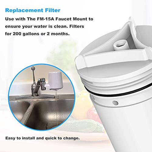 BELVITA FM-15RA Water Filter Compatible with Culligan Culligan System