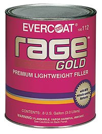 1 Gallon Rage Gold - Premium Lightweight Body Filler - Part# FIB 112