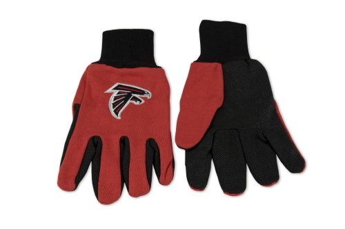 NFL Atlanta Falcons Two-Tone Gloves, Red/Black