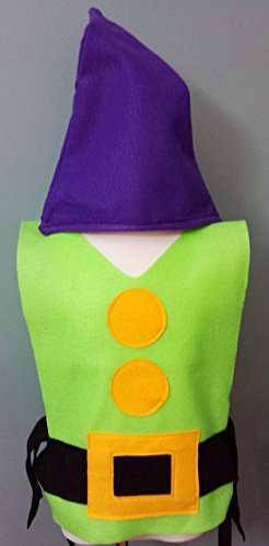 Adult / Big Kid Dopey Costume Set (Snow White and the Seven Dwarfs) (7 Dwarfs Costume)