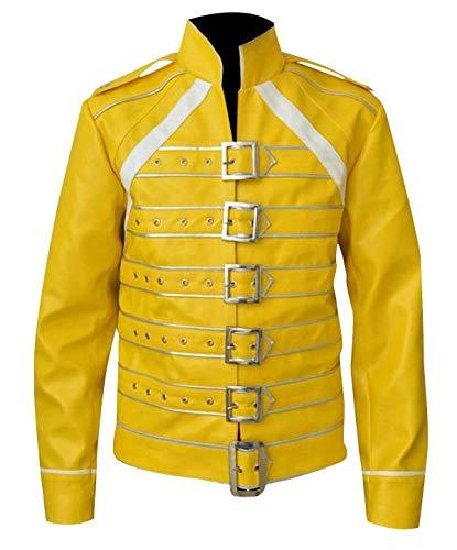 Fashion-Nova Freddie Mercury Yellow Jacket Costume