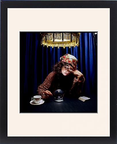 Framed Print Of Gypsy a Crystal Ball by Prints Prints Prints