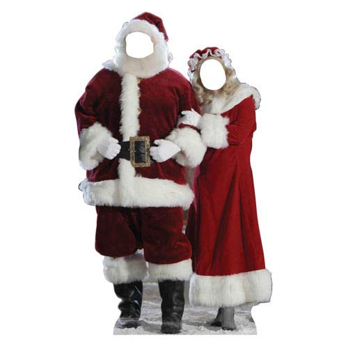 (MR & MRS SANTA CLAUS Christmas CARDBOARD CUTOUT Stand-In Standin Standup Standee by Awesome Shopper)