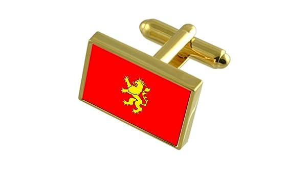 Select Gifts Ciudad de Zaragoza España Bandera de Oro Gemelos ...