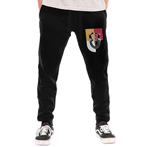 US Army 3rd Special Forces Group Men's Sweatpants,Fit Jogger Pant,Fashion Workout Pants, Black