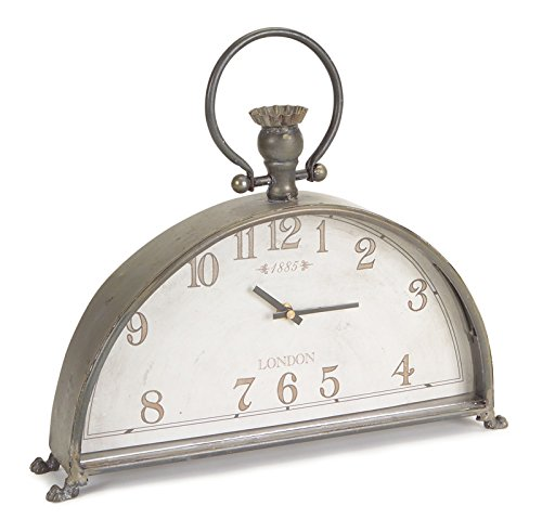Melrose International 58710 Mantle Clock - Mantle clock 15Lx13H metal/glass (1 aa battery, not included) This are highly durable This is manufactured in china - clocks, bedroom-decor, bedroom - 41RCYT4y4ZL -