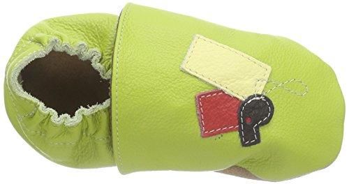 HOBEA-Germany Lauflernschuhe Fußball - Pantuflas para bebés Verde (grün)