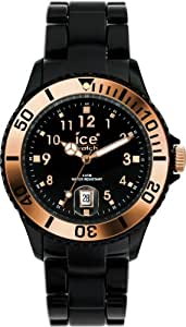 Ice-Watch Gold Rose Collection GR.BK.U.P.09 - Reloj unisex de cuarzo, correa de plástico color negro