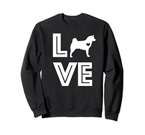 Unisex Cute & Funny Akita Dog   Pet Lover Gift Sweatshirt G002468 Medium Black