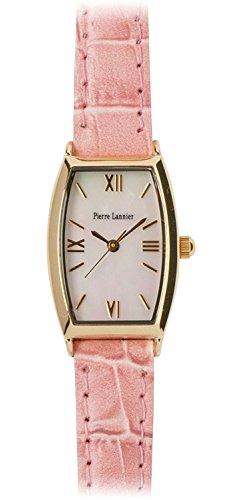 PIERRE LANNIER press watch Tonneau Watch Gold / Croco Usupinku P131D590 C51 Ladies