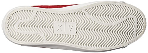 A|X Armani Exchange Womens Croc Low Top Sneaker Rosso CRXXw