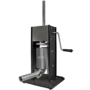 Weston Manual Vertical Sausage Stuffer, 7-Pound Capacity (86-0701-W), Dual Speed, Easy Clean Up