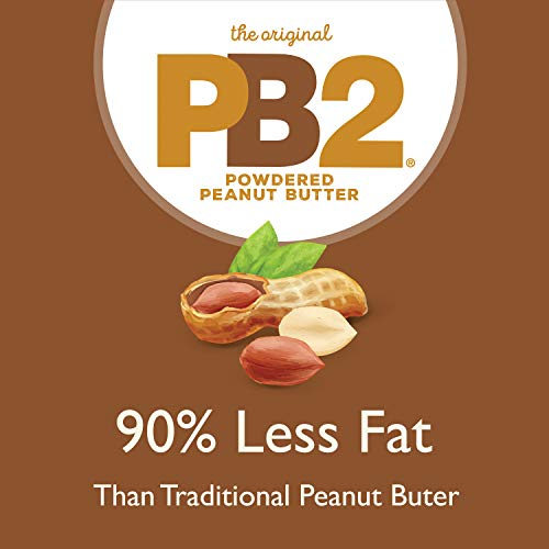 PB2 Powdered Chocolate Peanut Butter with Cocoa - 4g of Protein, 90% Less Fat, Certified Gluten Free, Only 50 Calories per Serving for Shakes, Smoothies, Low-Carb, Keto Diets [2 Lb/32oz Jar] (32oz) 6
