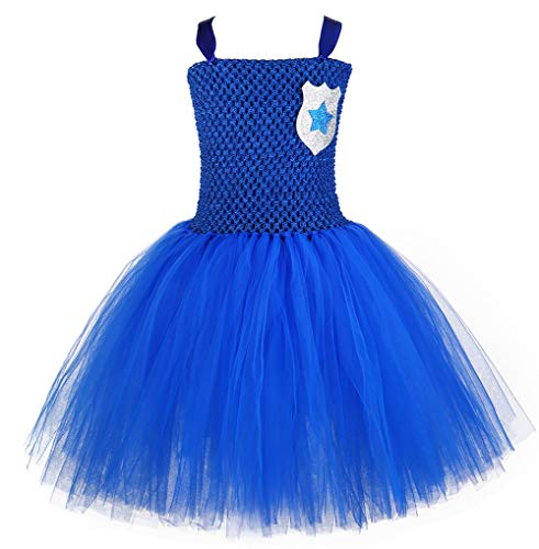 Tutu Dreams Cop Dress Up Costume Girls Plus Size Police Role Play Dress Outfits Children (Police, XXX-Large) -