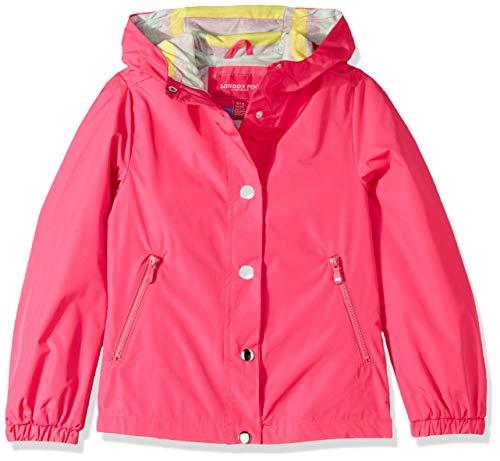 London Fog Girls' Big Lightweight Jersey Lined Windbreaker Jacket, Watermelon Beach, 7/8