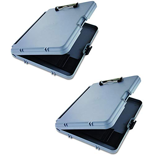 Saunders Gray Plastic Storage Clipboard
