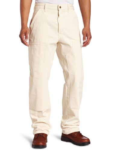 Carhartt Men's Double Front Drill Dungaree Utility Pant,Natural,34 x - Painters Natural Pants