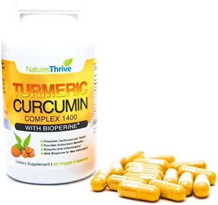 Organic Turmeric Curcumin with Bioperine Capsules – American-made Tumeric curcumin supplement with Bioperine for Better Absorption – 60 Count Natural Non GMO Antiinflamatory supplements turmeric pills