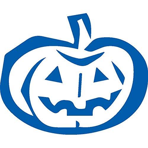 ANGDEST Pumpkin Stencil Drawing (Azure Blue) (Set of 2) Premium Waterproof Vinyl Decal Stickers for Laptop Phone Accessory Helmet Car Window Bumper Mug Tuber Cup Door Wall -