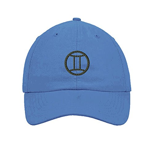 gemini-embroidered-soft-unstructured-hat-baseball-cap-light-blue