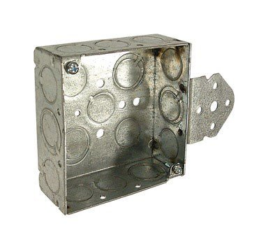 Raco Square Box 21.0 Cu In 8 Side Knockouts 1/2 '' Steel Bulk