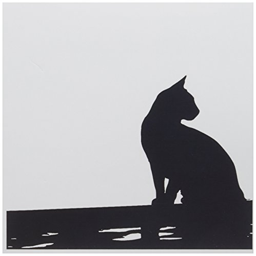 3dRose Black Cat Sitting On the Fence Greeting Cards, 6