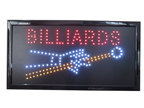 19x10 Neon Sign LED Lighting by Tripact Inc - 2 Swtiches: Power & Animation for Business Identification - Billards