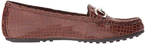 Crocodile Slip Tan Attraverso Delle Azionamento on Fodero Il Donne Dark Loafer HBgwPqC